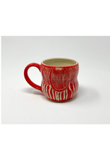 KG Ceramics - Fan Flower Mug/Blue 12 oz