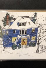 Emma FitzGerald - Card/Blue Christmas House