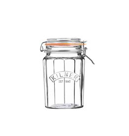 PLE - Faceted Cliptop Jar 950 ml