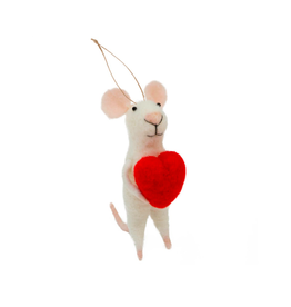 IBA - Ornament/Heart Felt Mouse