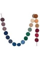"COP - Wool Felt Circles Garland 72"""