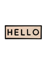 "IBA - Sign/Hello, Enamel, 8.25"""