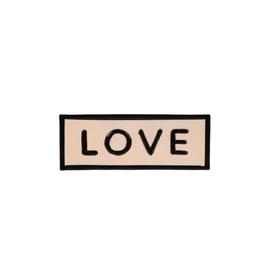 "IBA - Sign/Love, Enamel, 8.25"""