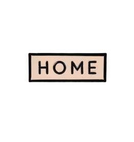 "IBA - Sign/Home, Enamel, 8.25"""