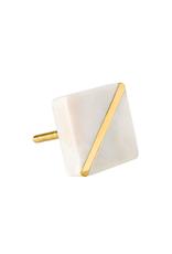 IBA - Knob / Divided, Marble & Gold
