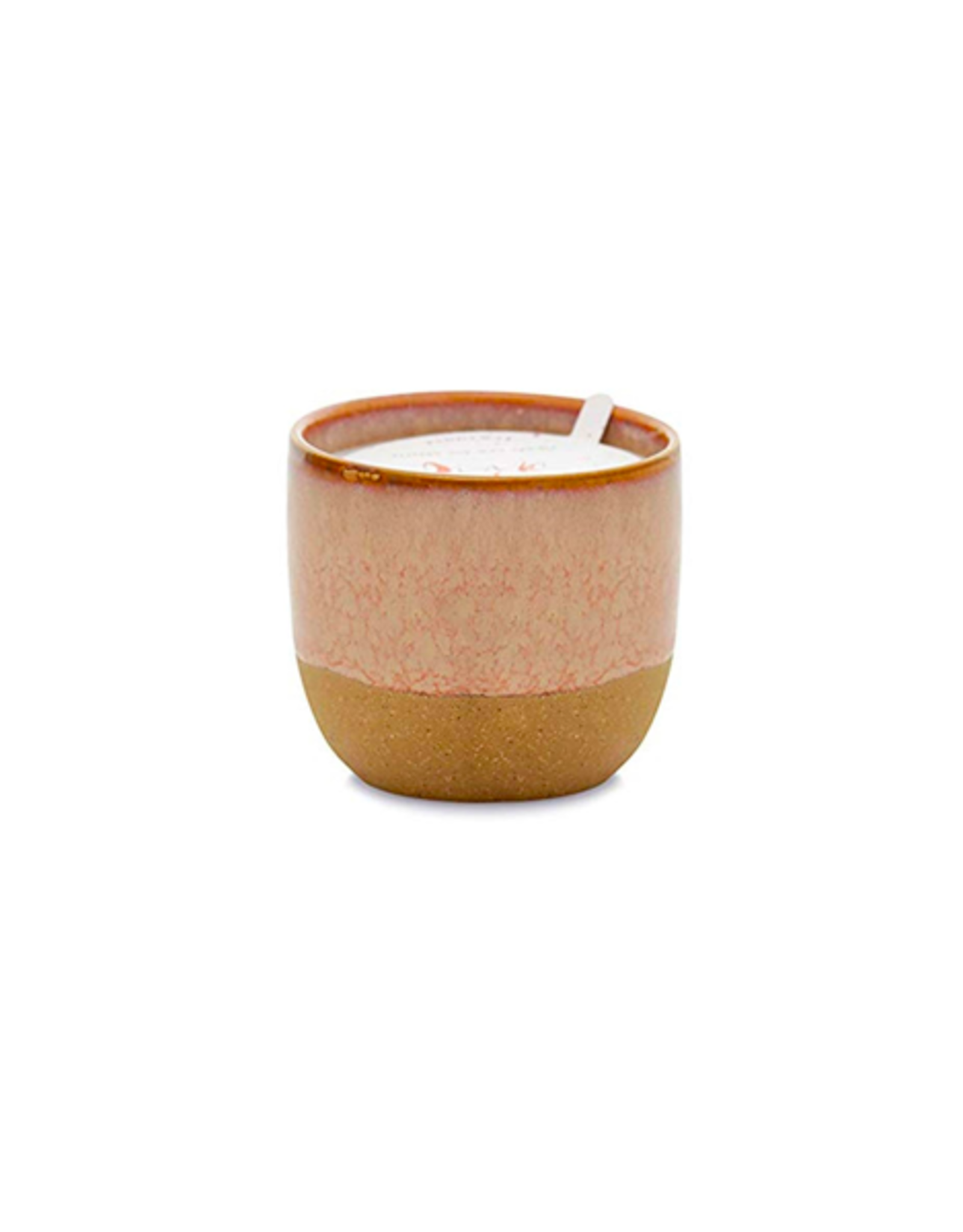 PAX - Soy Candle/Pink Opal & Persimmon, Rust Glaze, 6oz