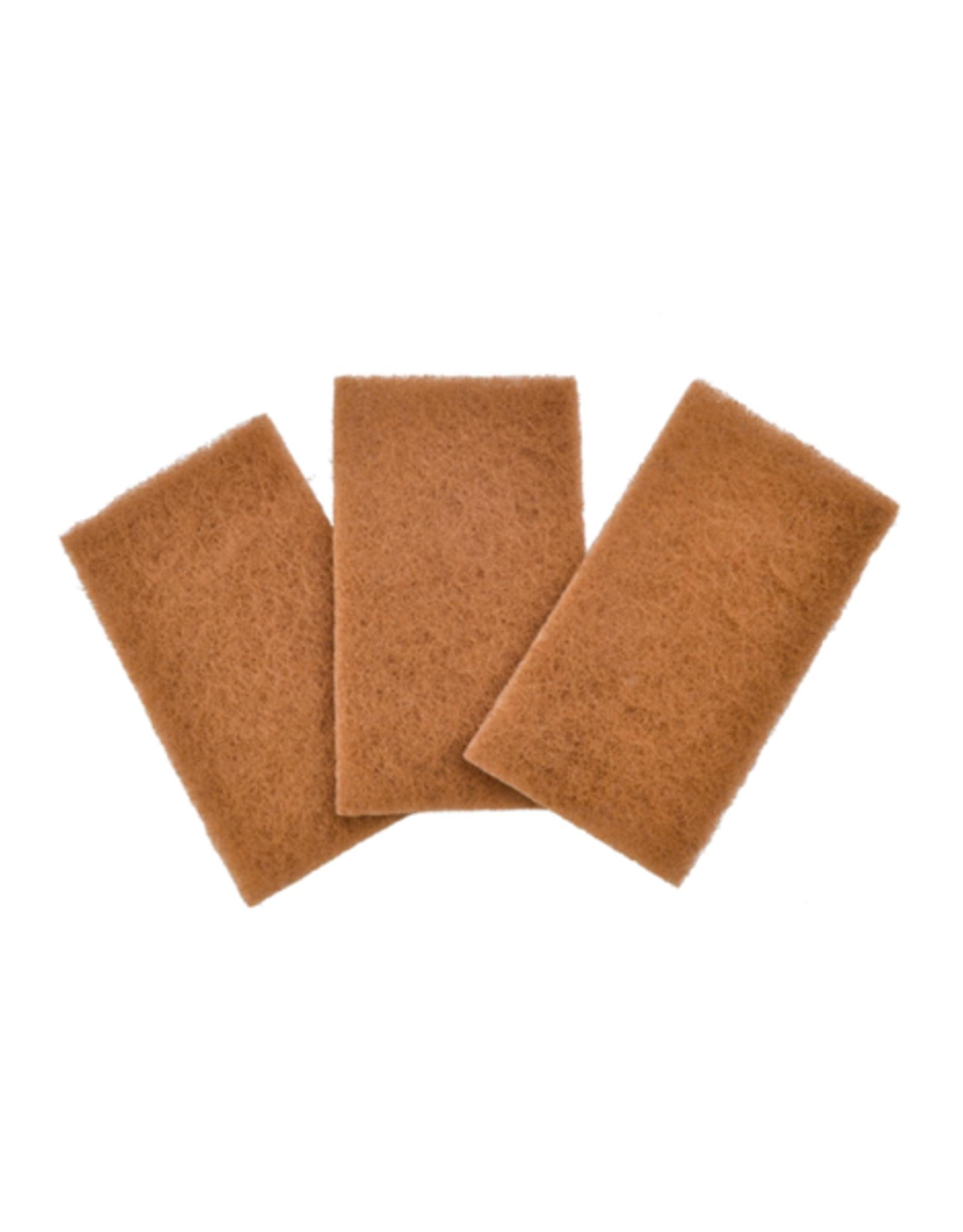 DCO - Walnut Shell Scour Pads / Set 3