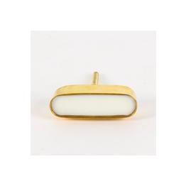 CJM - Knob/Stone & Brass