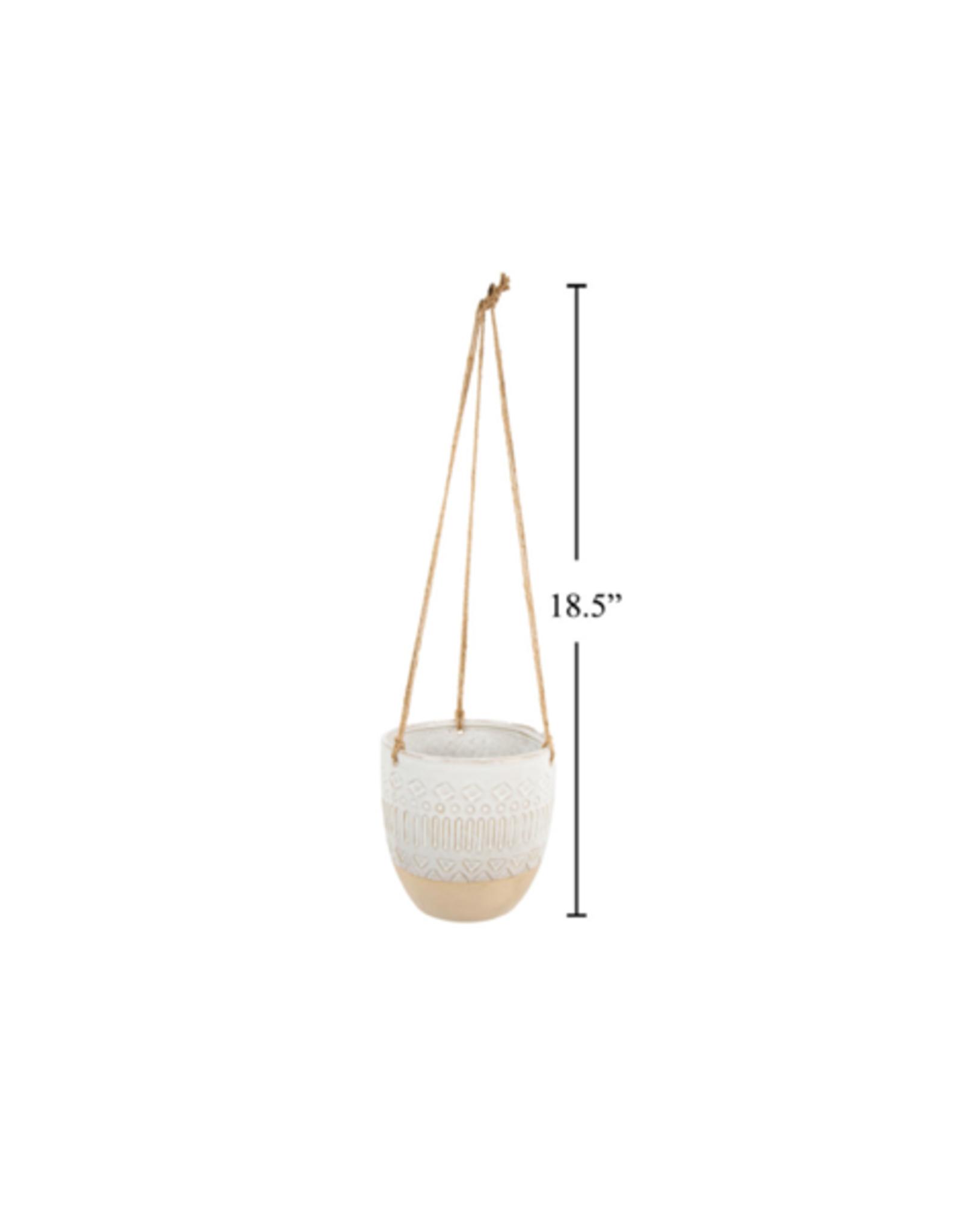 "CTG - Hanging Plant Pot / Natural Ceramic, 6"""