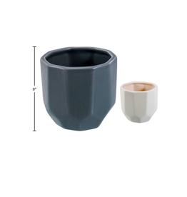 """CTG - Plant Pot/Faceted, White 3.25 x 3"""""""