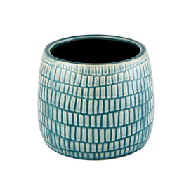 CVE - Plant Pot/Teal Dash, 4.5""