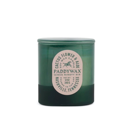 PAX - Soy Candle/Cactus Flower & Aloe, Green Glass, 12 oz