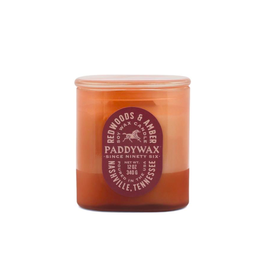 PAX - Soy Candle/Redwood Amber, Rust Glass, 12 oz