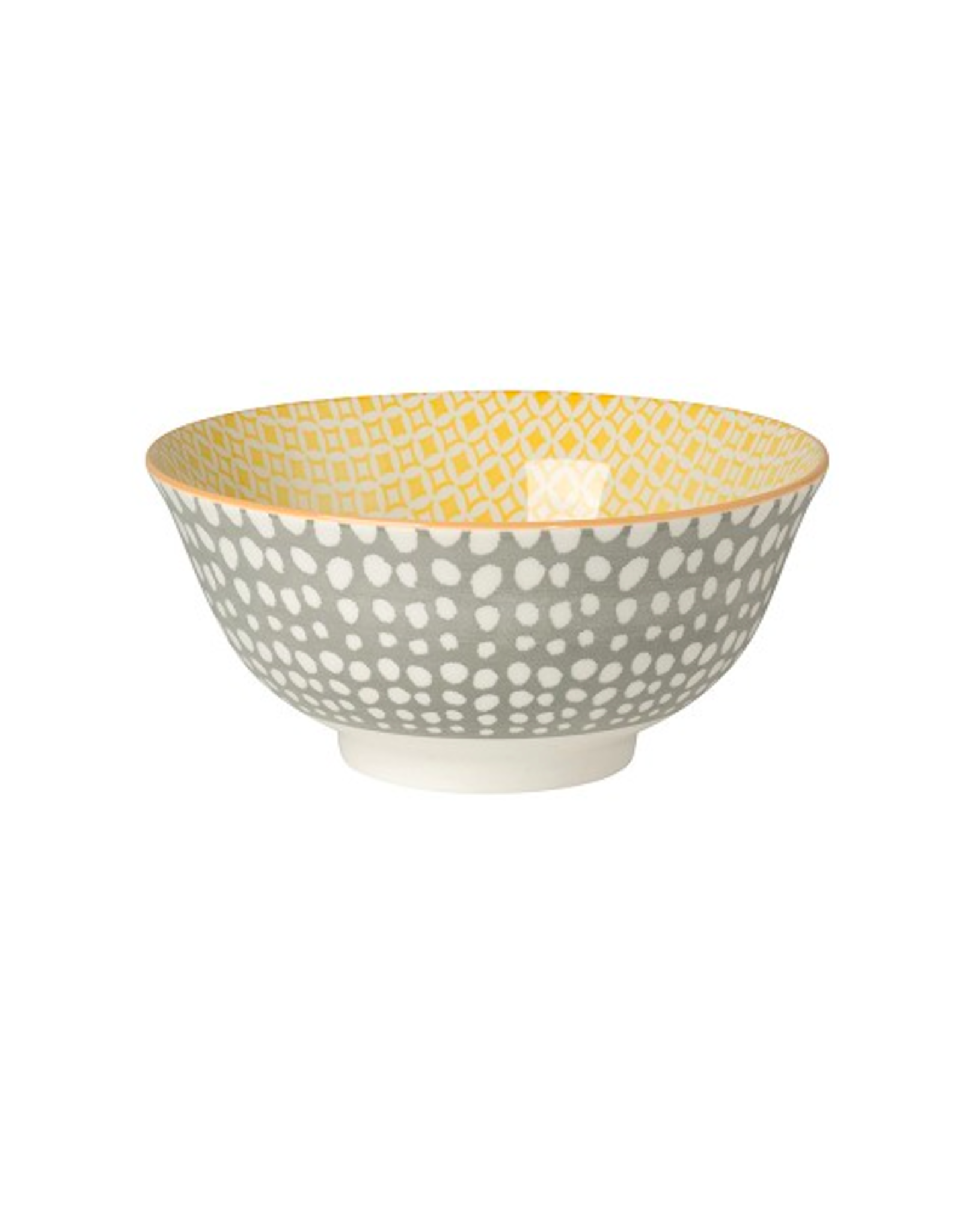 DCA - Bowl/Grey & Yellow, 6""
