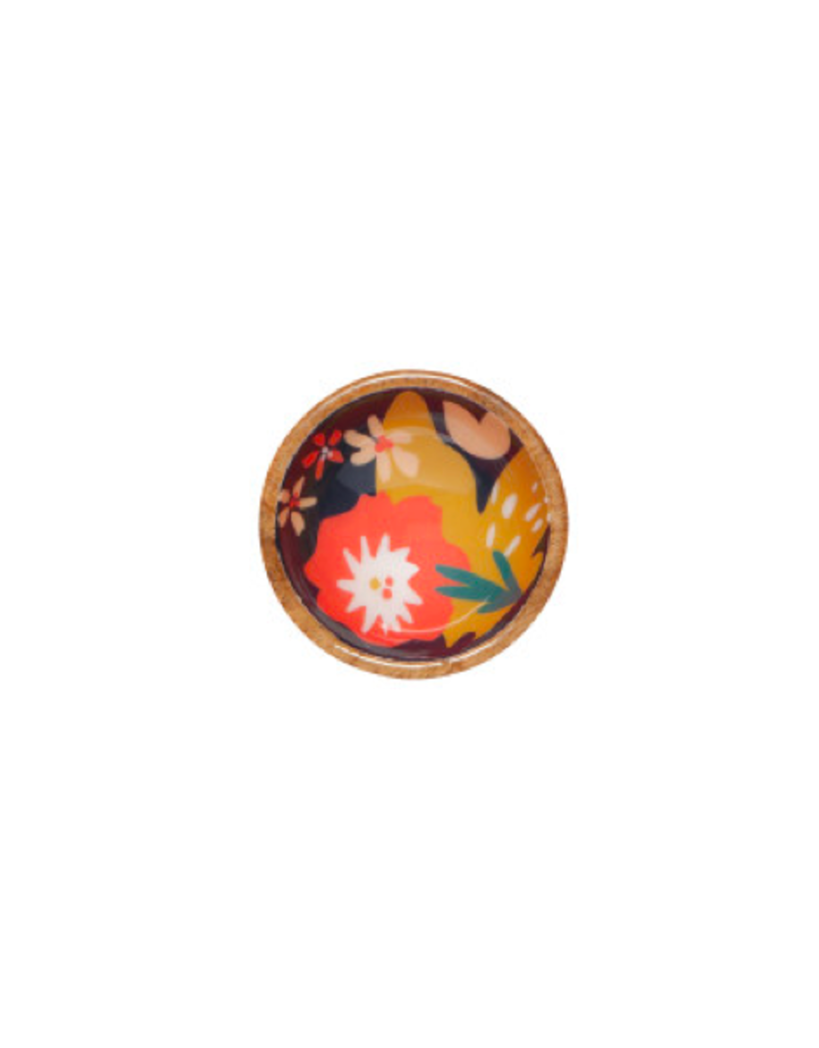 "DCA - Mini Bowl/Mango Wood, Bloom, 4"""