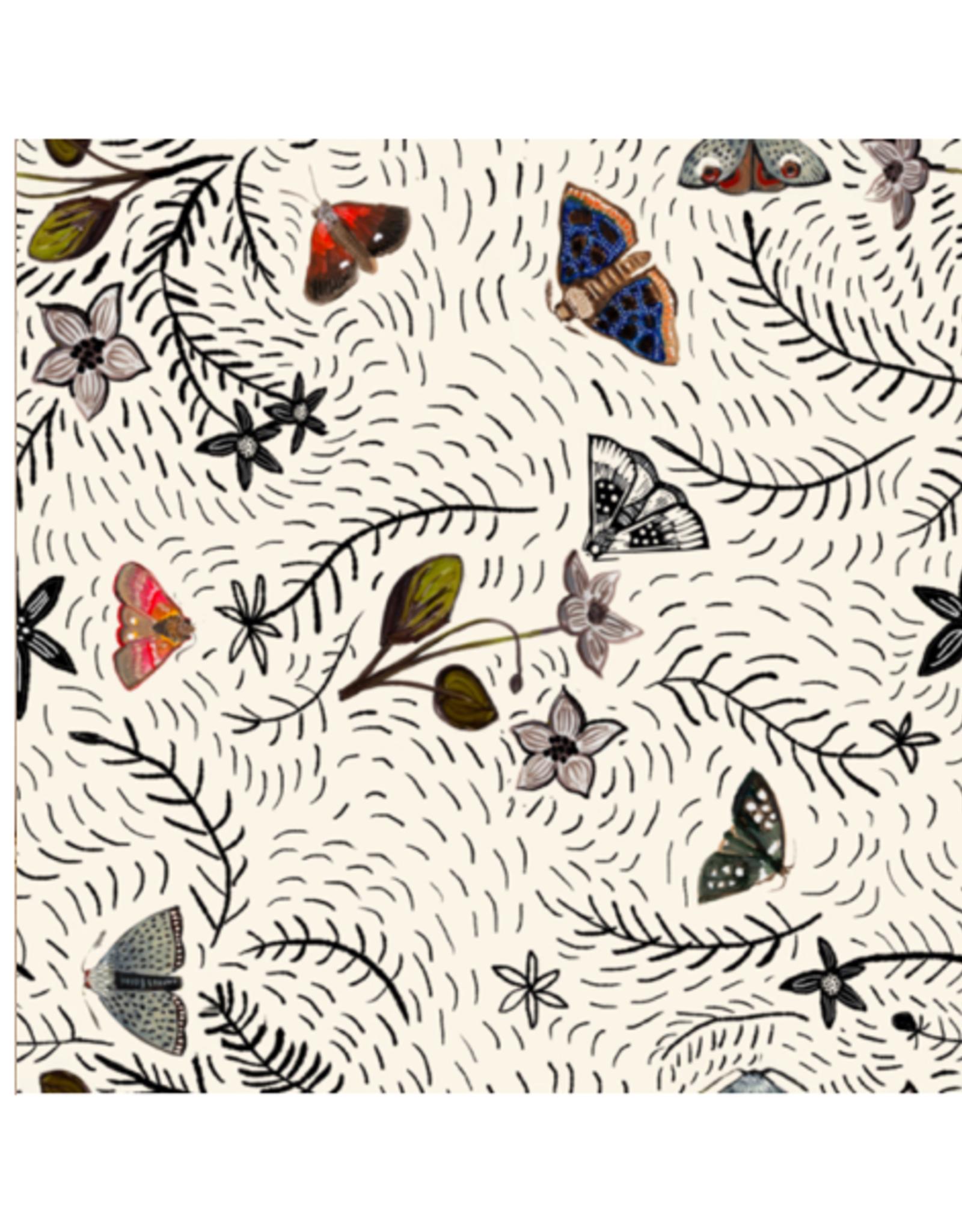 Briana Corr Scott - Card / Moths & Hellebore, 4 x 6