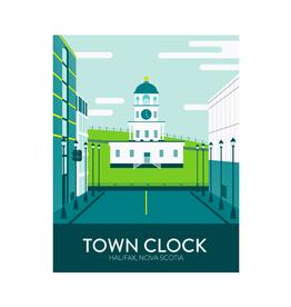 "Hannah Emmett - Print/Town Clock 8 x 10"""