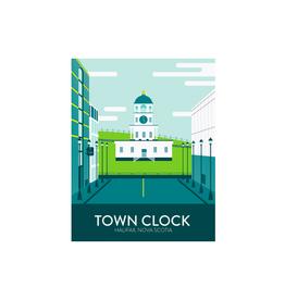 """Hannah Emmett - Card/Town Clock, 4 x 5"""""""