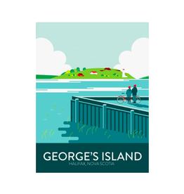 "Hannah Emmett - Print/George's Island 8 x 10"""