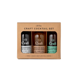 W&P - Cocktail Syrup/Set 3, Old Fashioned, Moscow Mule, & Spicy Margarita, 1oz