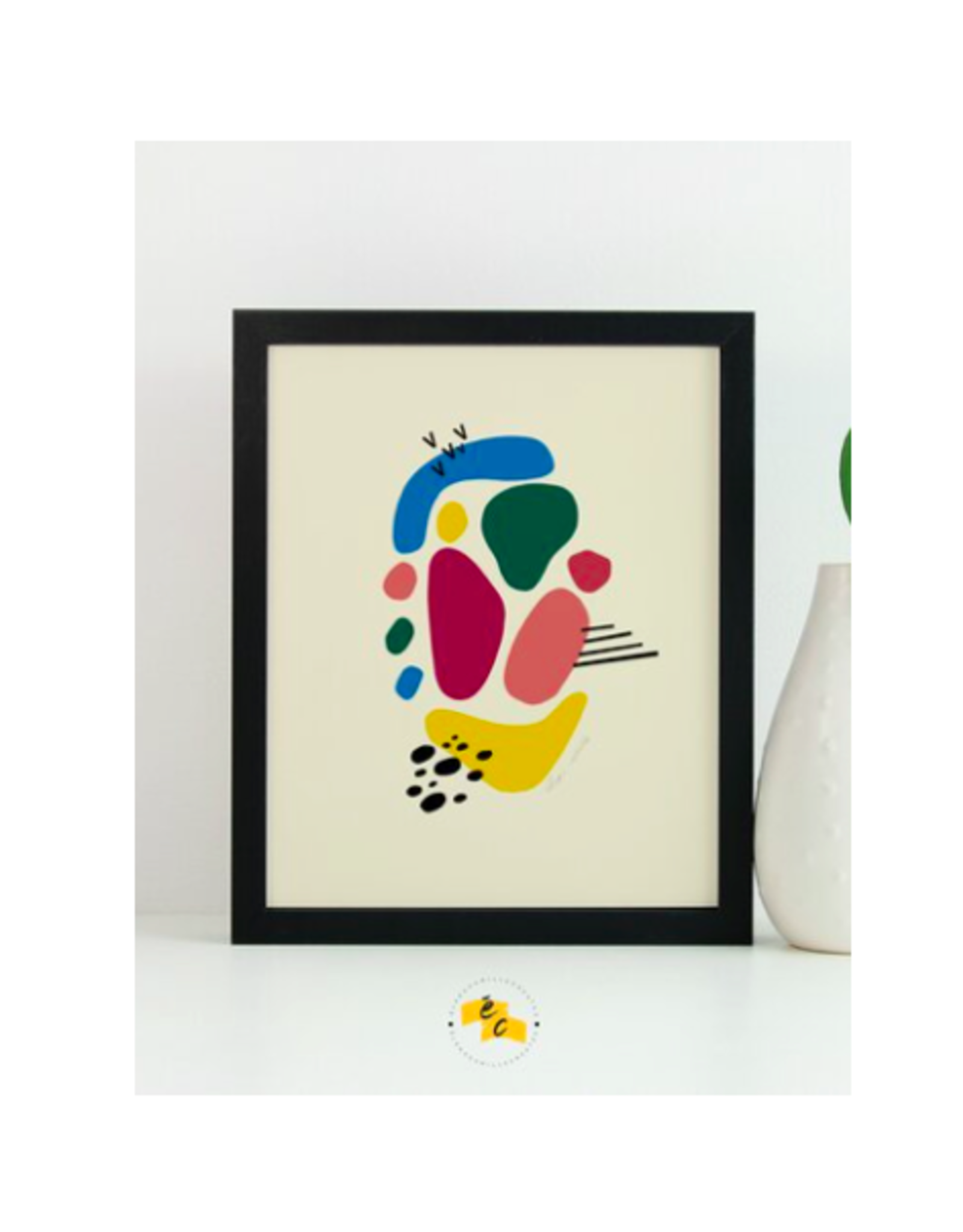 "Elana Camille - Print/Confetti #2 8 x 10"""