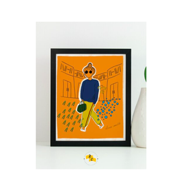 Elana Camille - Print/City Girl, Clementine 8 x 10""