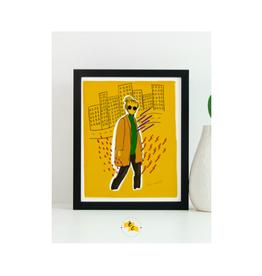 "Elana Camille - Print /City Girl, Marigold, 8 x 10"""