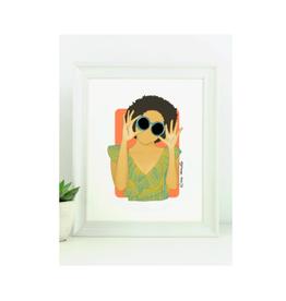 "Elana Camille - Print/Girl Afro Sunglasses 8 x 10"""