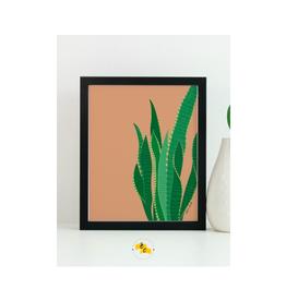"Elana Camille - Print/Snake Plant, Brass, 8 x 10"""