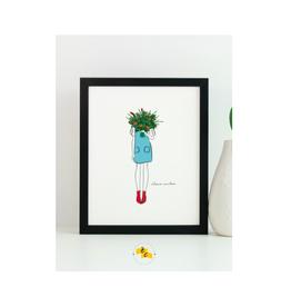 "Elana Camille - Print/Floral Blue Dress 8 x 10"""