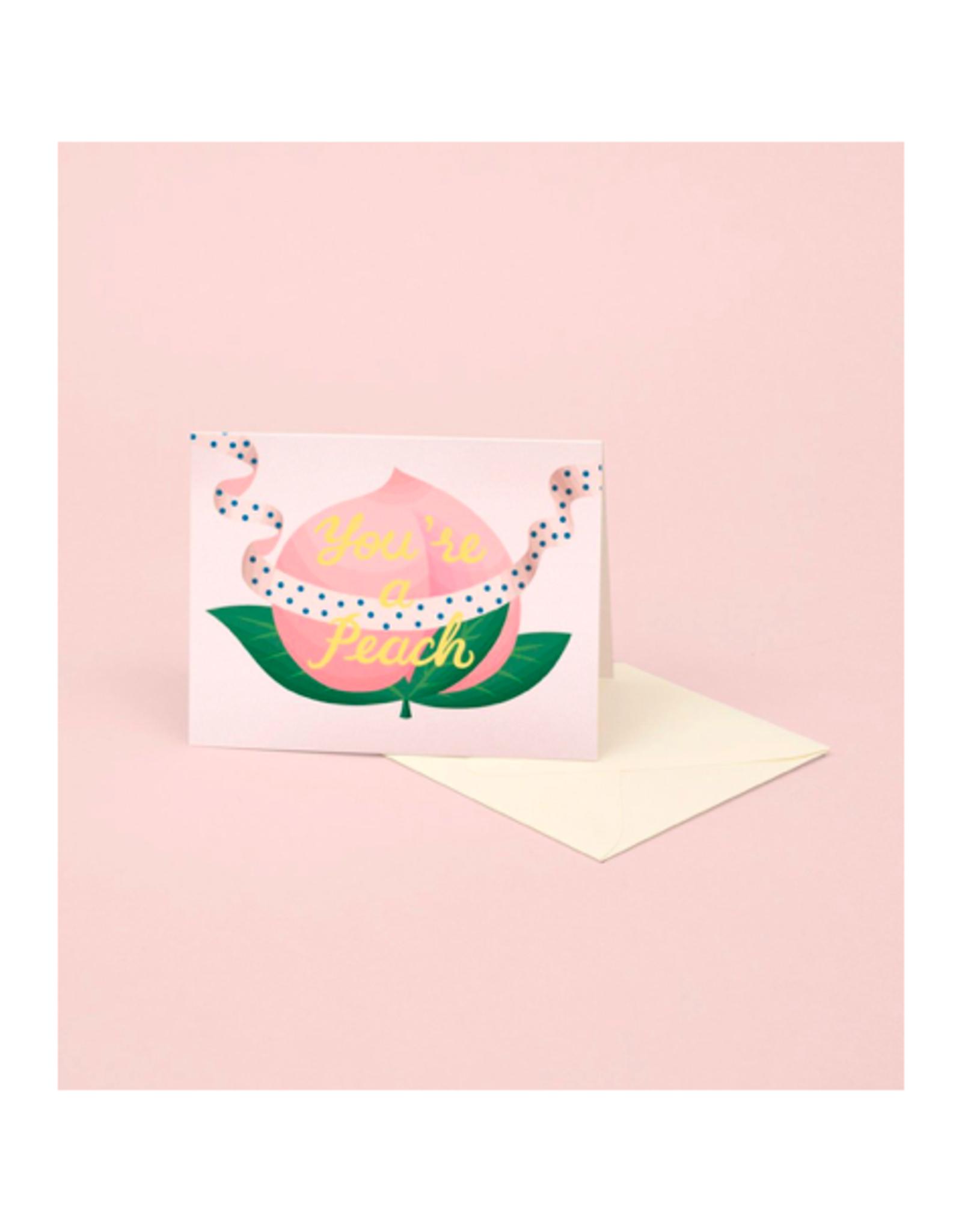 """CAP - Card/Peach, Birthday, 4.25 x 5.5"""""""
