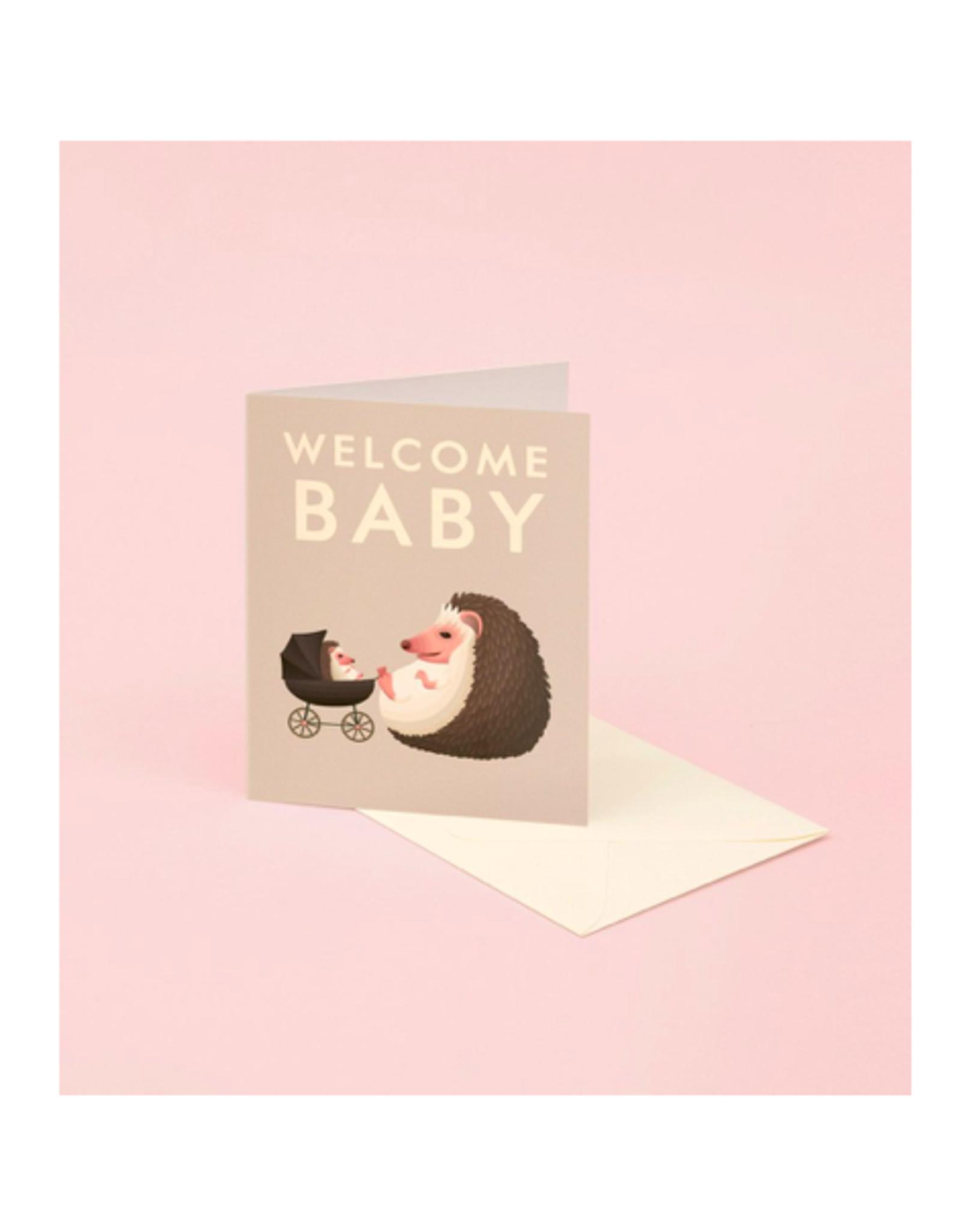 "CAP - Card / Welcome Baby, Hedgehog, 4.25 x 5.5"""