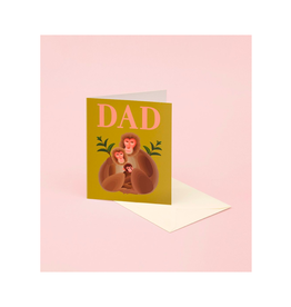 CAP - Card/Monkeys, Father's Day, 4.25 x 5.5""