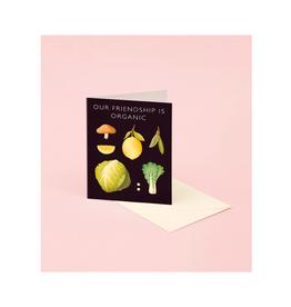 "CAP - Card / Our Friendship is Organic, Vegetable, 4.25 x 5.5"""