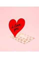 "CAP - Card / I Love You, Heart, 4.25 x 5.5"""