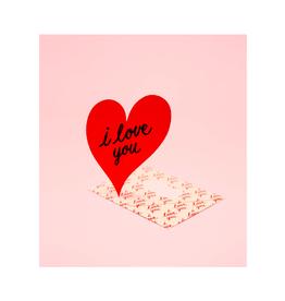 "CAP - Card/Heart, Love, 4.25 x 5.5"""