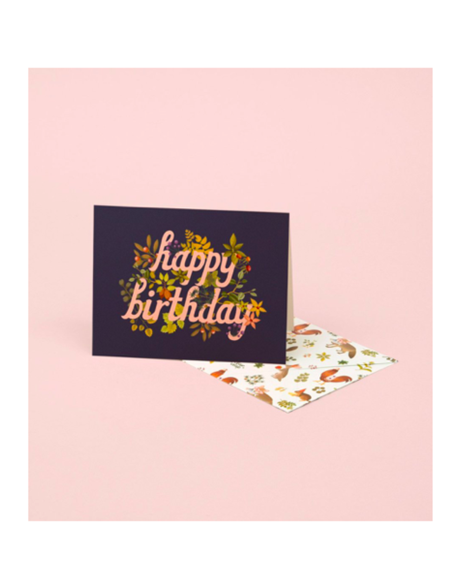 "CAP - Card / Happy Birthday, Botanical, 4.25 x 5.5"""