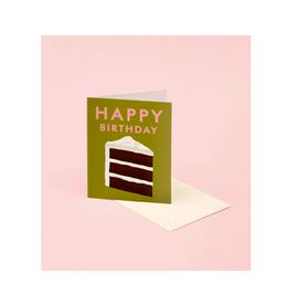 "CAP - Card / Happy Birthday, Cake Slice, 4.25 x 5.5"""