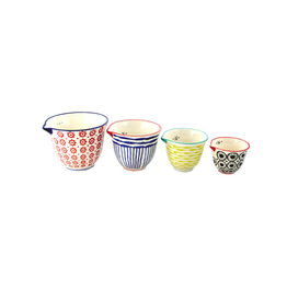 NIA - Painted Ceramic Measuring Cups/Set 4