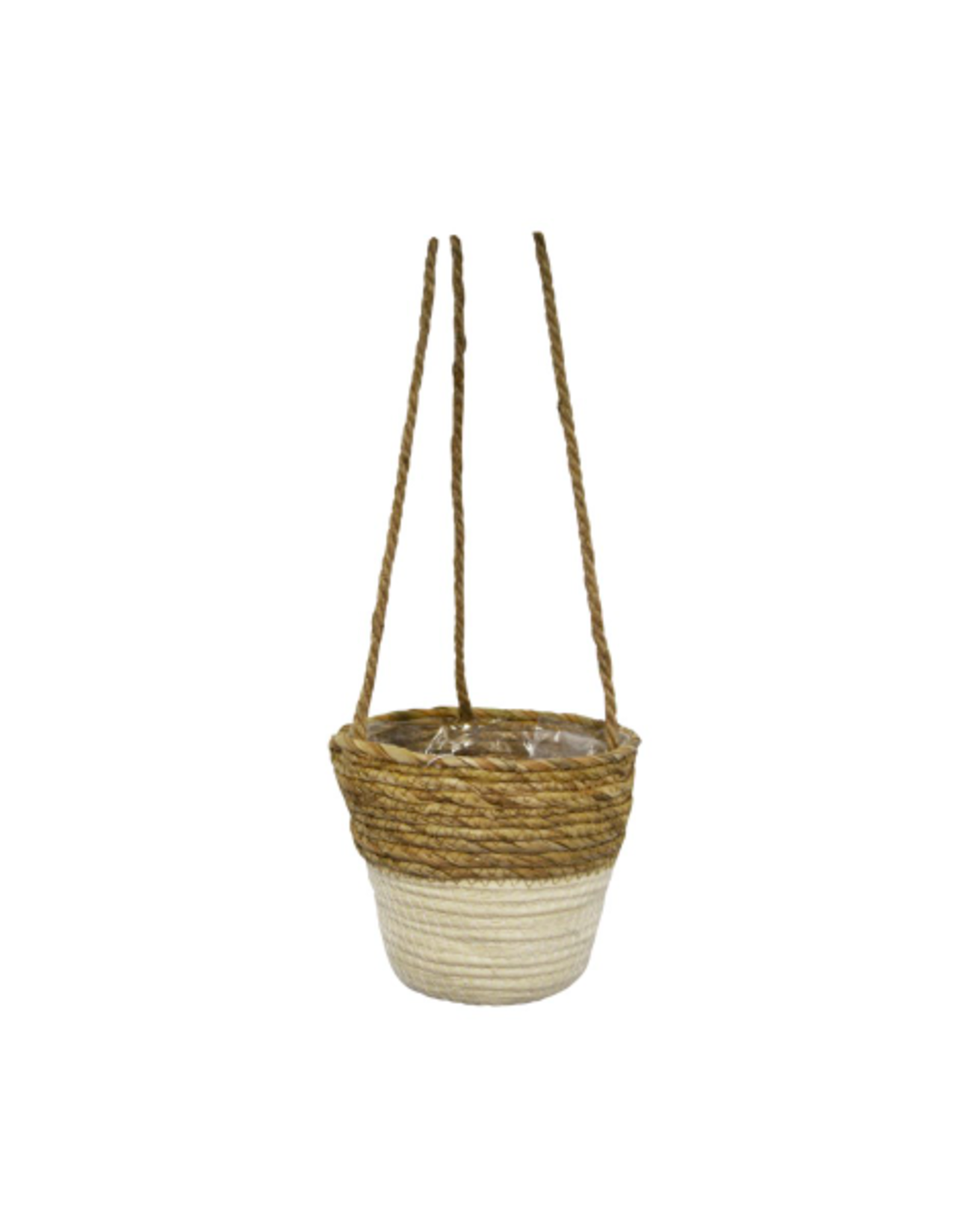 "NIA - Hanging Plant Pot/Woven Basket, 6"""