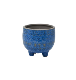 NIA - Plant Pot/Blue Embossed 3.5""