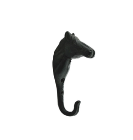 NIA - Single Wall Hook/Horse, Cast Iron, 5.5""