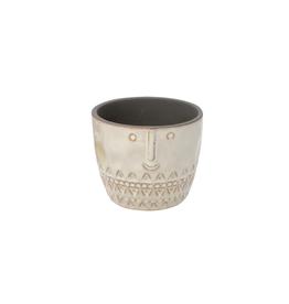 "NIA - Plant Pot/Grin, Cream, 4"""