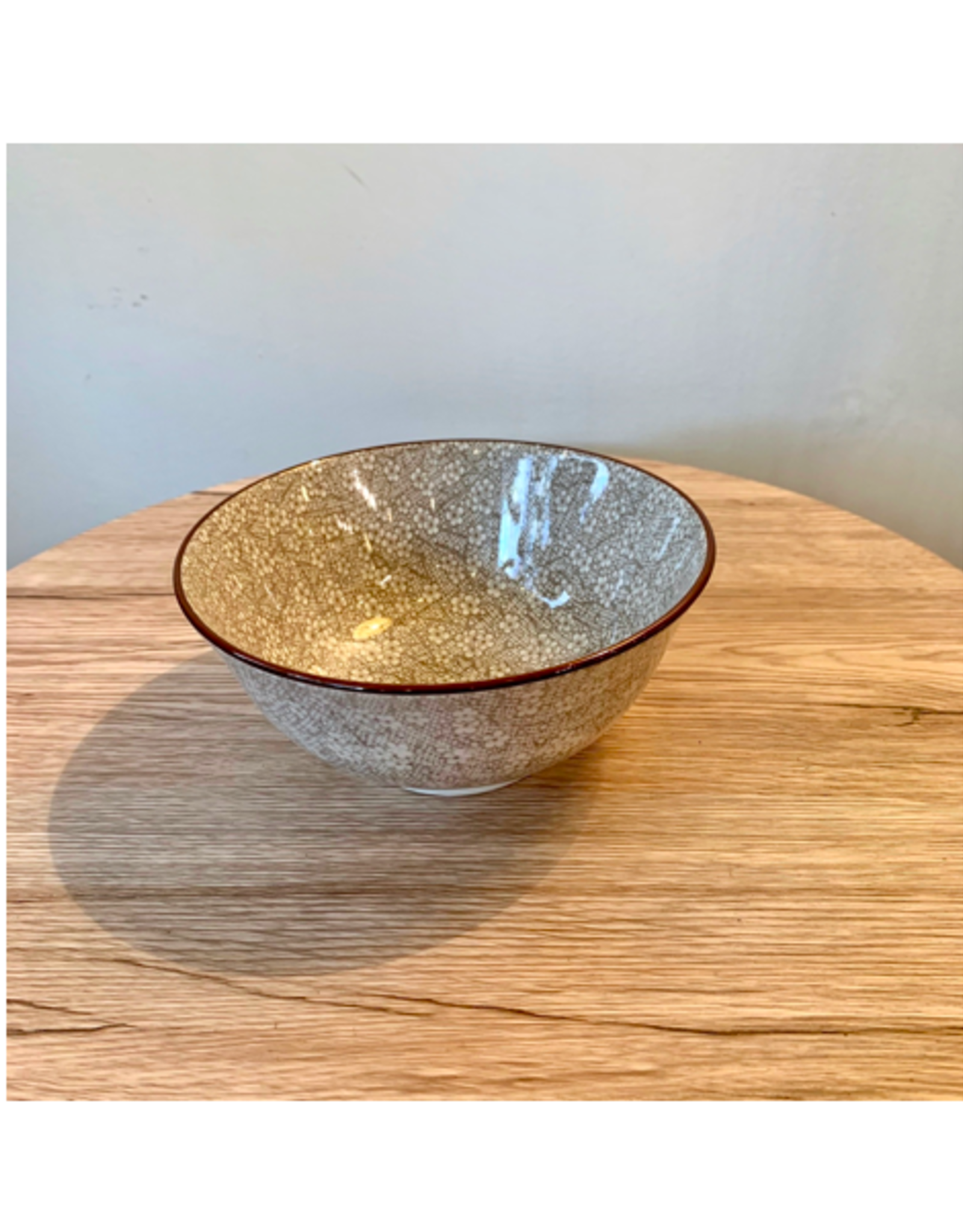 ACE - Bowl/Brown Floral, 6""