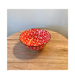 ACE - Bowl/Red Flora, 6""