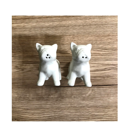 COP - Salt & Pepper Shaker/Bulldog, Ceramic