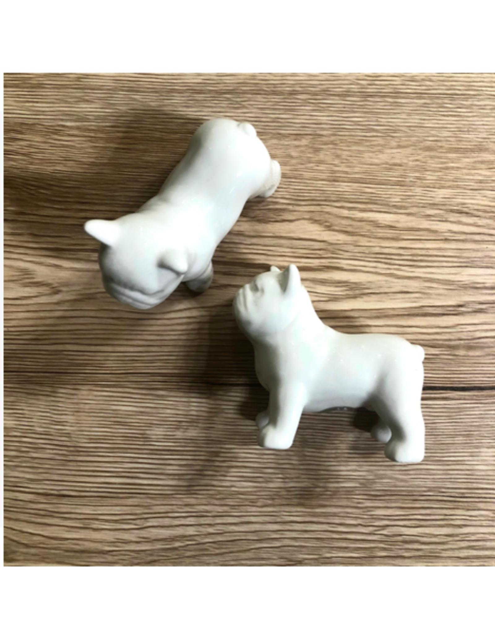 COP - Salt & Pepper Shaker/Bulldog, Ceramic