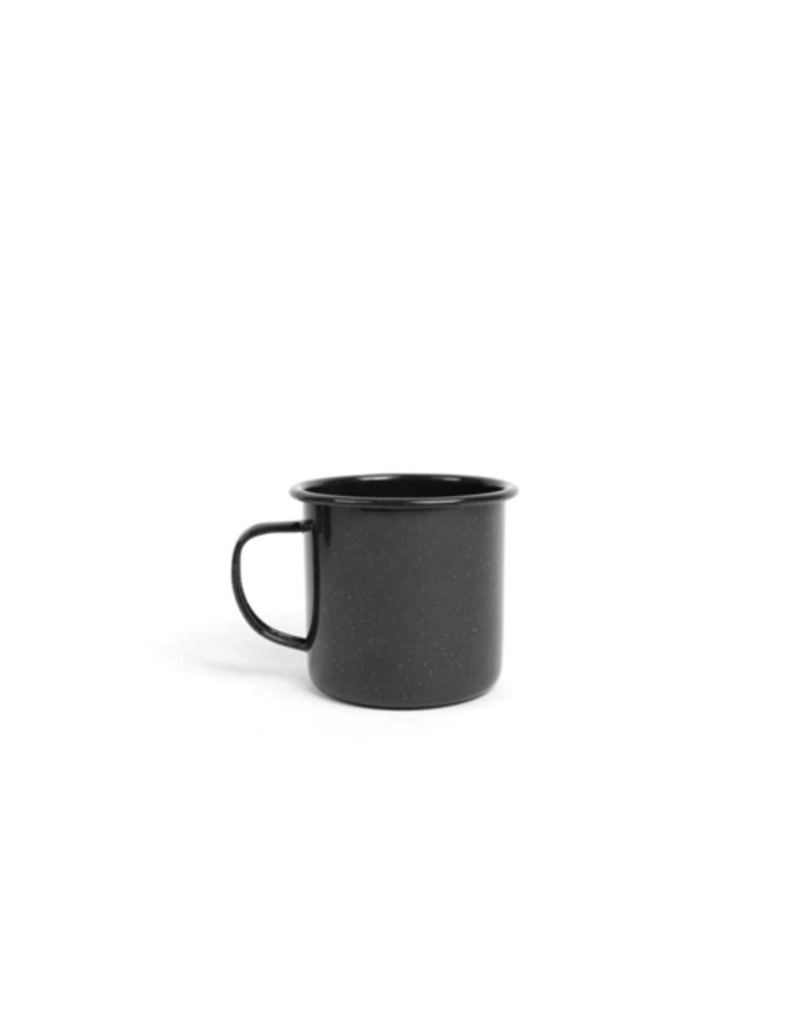 CON - Enamel Mug/Black, Speckled, 12oz