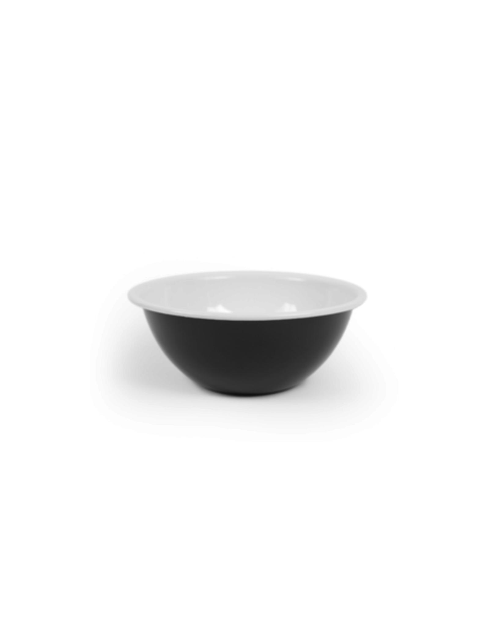 "CON - Enamel Serving Bowl/Black, 8"""