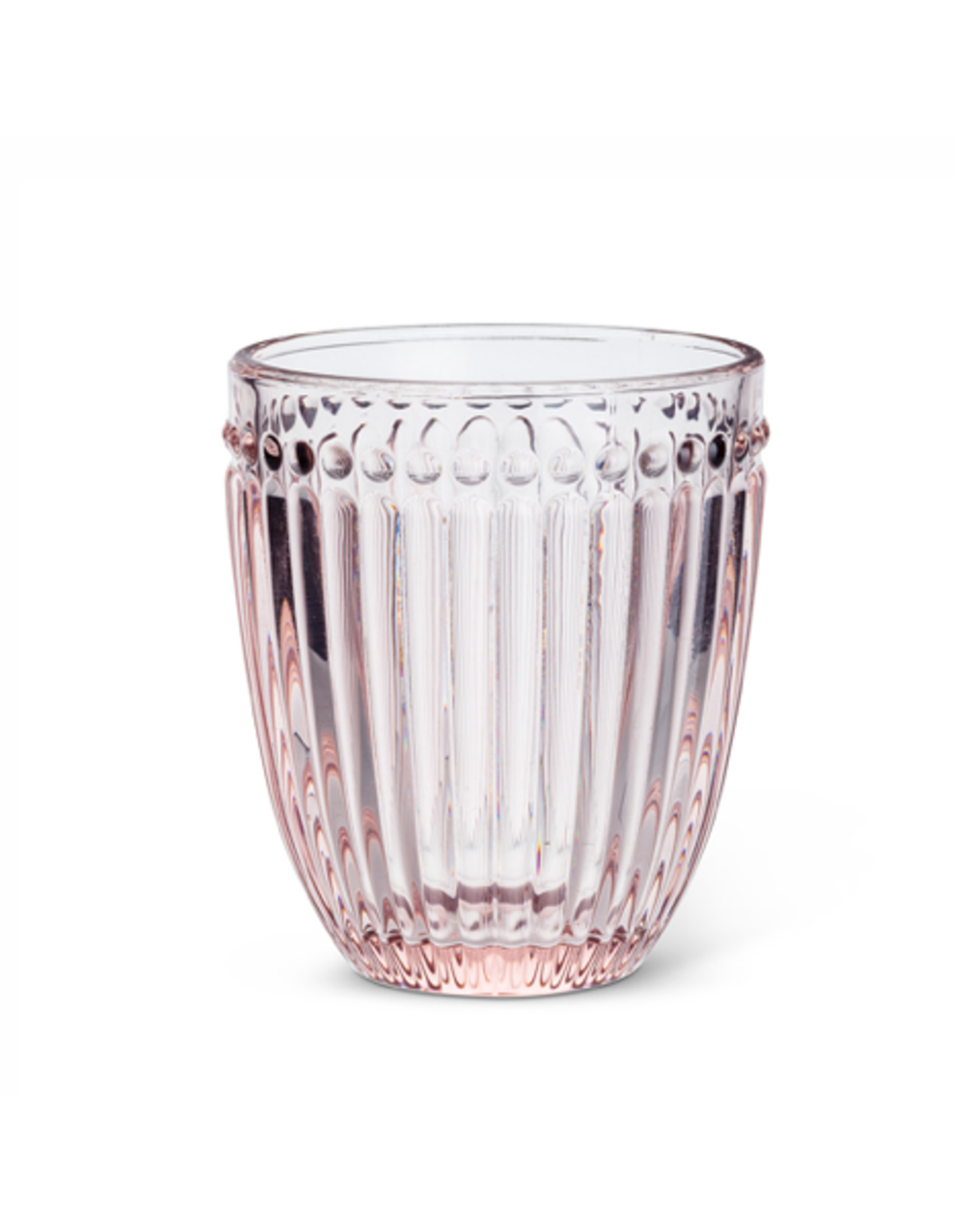 ATT - Tumbler/Dot, Pink Glass, 10oz